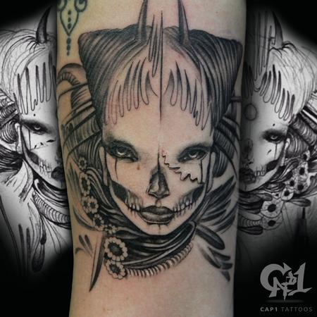 b60e5306c76e8 Tattoos - Lalas Dream Box Original Illustration - 122780. Tattoos -  Supervillain Joker Tattoo - 120650. Tattoos - Healed Black and Gray Lion  Chest ...