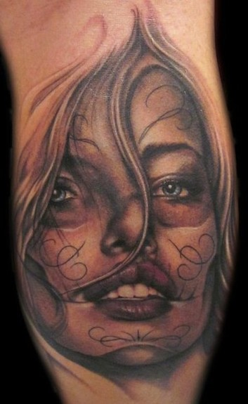 day of dead girl tattoo pictures. Day of the Dead Girl Tattoo