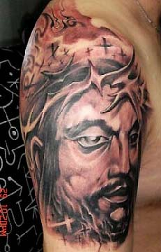 jesus tattoos designs on Jesus Tattoo M religious tattoos