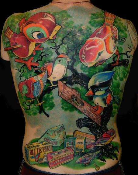 Tattoos - image 22 of 71. Birdy Back Piece. Chris Dingwell - email