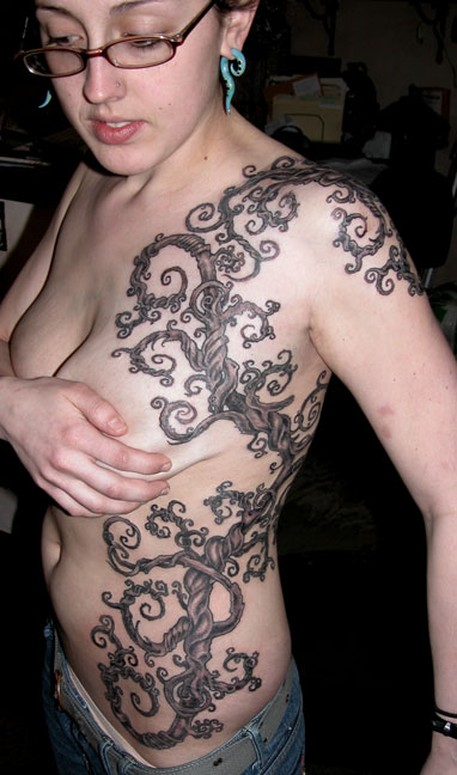 vines tattoos. Vine gallery tattoo designs
