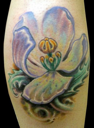 flower tattoo design on lower back part of your body, which will look both