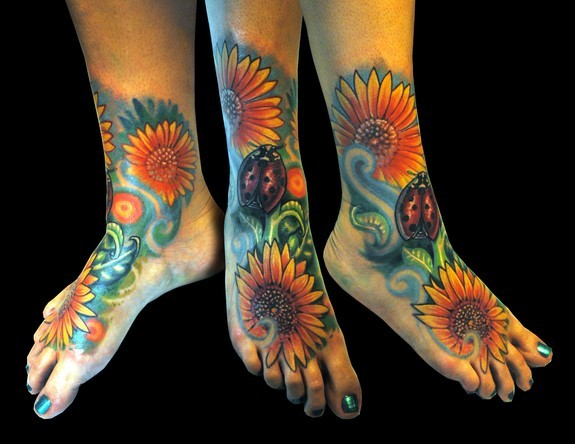 Hope gallery tattoo tattoos realistic sun flowers for Realistic sun tattoo