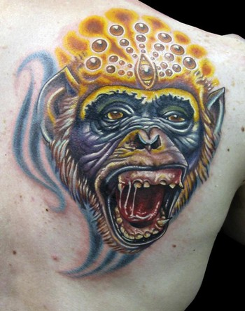 3D Monkey Tattoo Gallery · making-tattoo.blogspot.com (view original image)