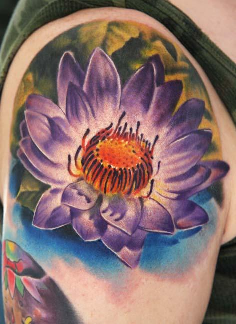 flower tattoo colors. Color Tattoos, Flower