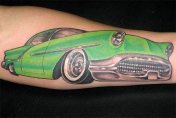 Tattoos on Looking For Unique Realistic Tattoos Tattoos  Green Car