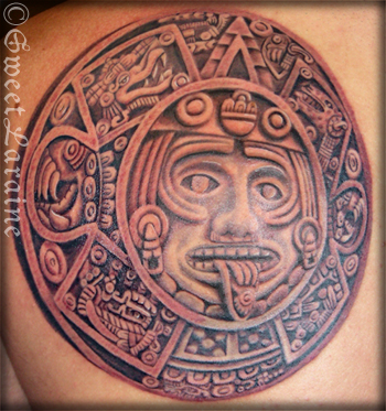 aztec tattoo art. Aztec tattoo flash art and