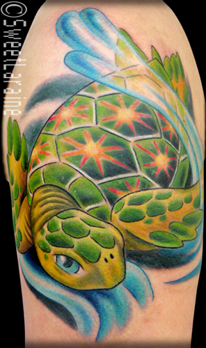 "If you are like me, your first reaction is to think ""a sea turtle tattoo?"