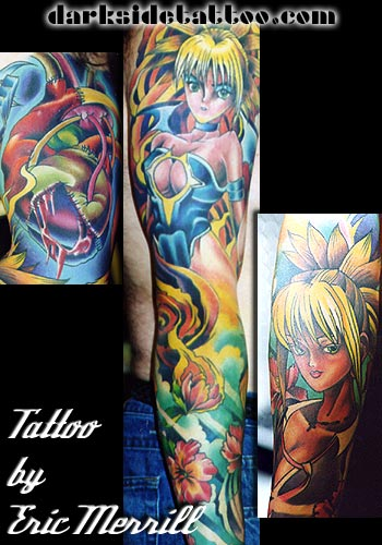 Eric Merrill - Anime Sleeve Leave Comment. Tattoos
