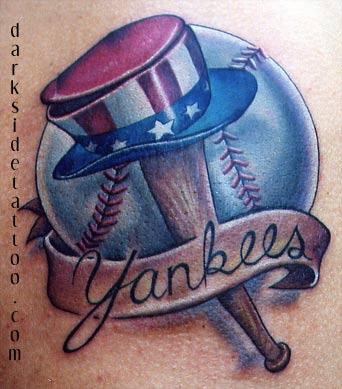 tattoo galleries custom yankees logo tattoo design. Black Bedroom Furniture Sets. Home Design Ideas