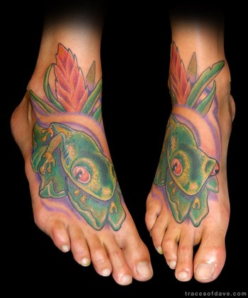 Tattoos. Tattoos Color. African Tree Frog