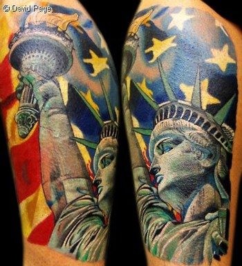off the map tattoo tattoos celebrity statue of liberty