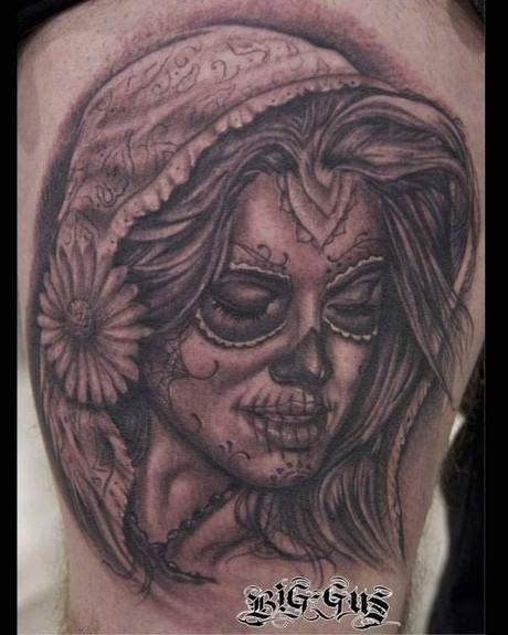 Sugar Skull Girl Tattoos | tattoo designs