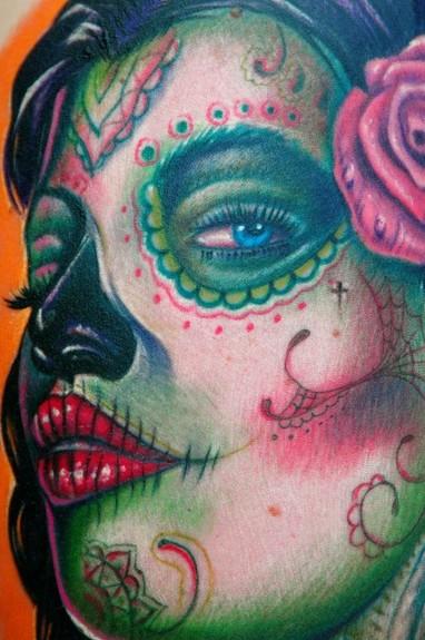 sugar skull tattoo (part 1)