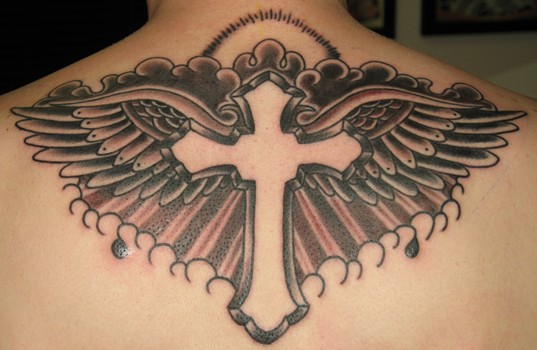 back Cross tattoo design