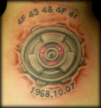 24062008016 · The final tattoo · Data matrix tattoo