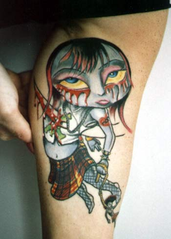 cool unique tattoos mark ryden picture car interior design. Black Bedroom Furniture Sets. Home Design Ideas