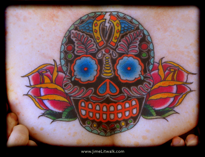 day of dead skull tattoo designs. Day of the Dead Skull Chest