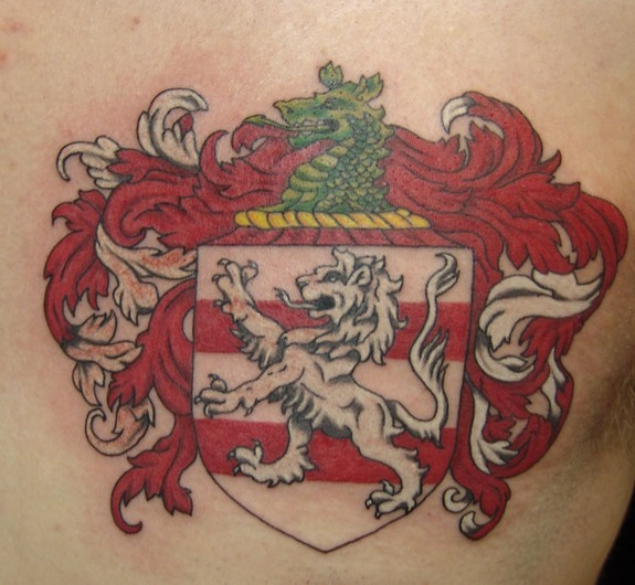 Blaze Schwaller - Coat of Arms Tattoo