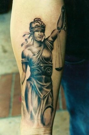 lady tattoo. Tattoos? Lady Justice