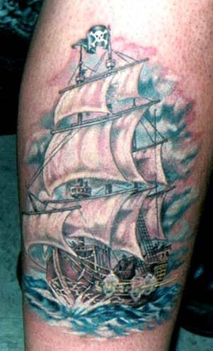 tattoos on private parts. pirate tattoo picture