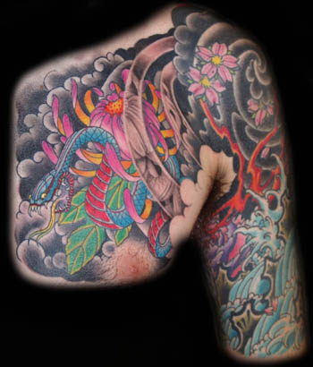 Keyword Galleries: Color Tattoos, Traditional Japanese Tattoos,