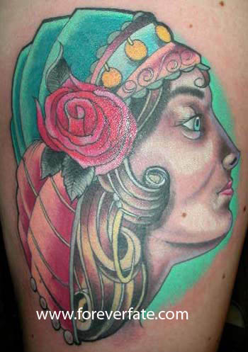 Gypsy by greg deininger greg d tattoonow for Tattoo shops in utah
