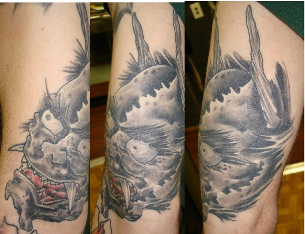 japanese demon face tattoo image search results