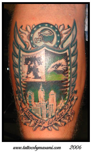Masami eagles for Philly sports tattoo