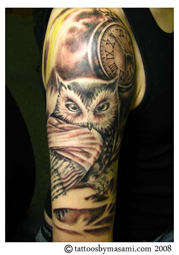 Pocket Watch Owl Tattoo 500 - Internal server ...