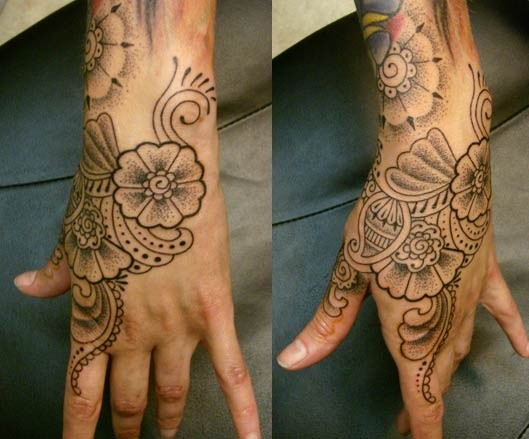 side of hand tattoos. Side Of Hand Tattoos.