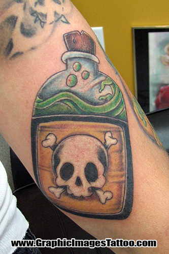 Hellkey - Death Bottle. Tattoos