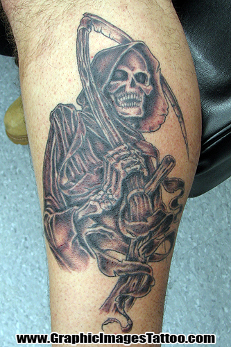 Keyword Galleries: Black and Gray Tattoos, Rework Tattoos, Evil Grim Reaper