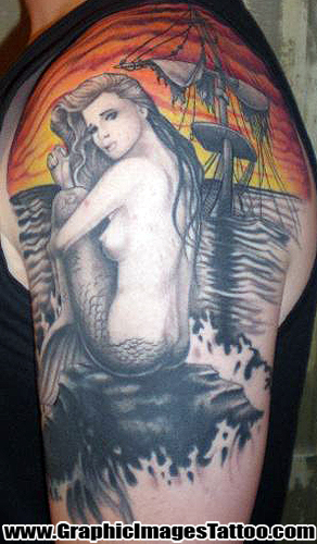 Kris Thomas aka Shylock Von Tooth - Mermaid Tattoo