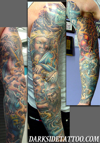 Religious Tattoos, Religious Angel Tattoos, Religious Devil Tattoos,