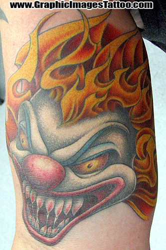 Sean Ohara - Clown. Tattoos. Evil Tattoos