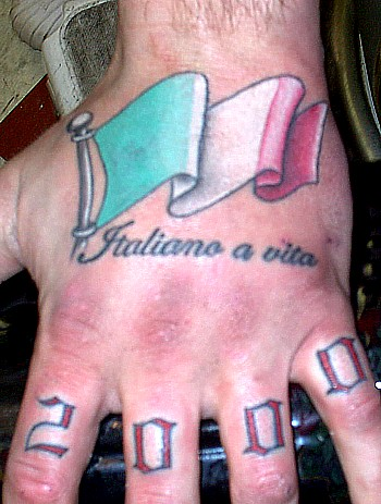Italian flag crest tattoo. | Flag Tattoos Designs italian flag tattoo 3.