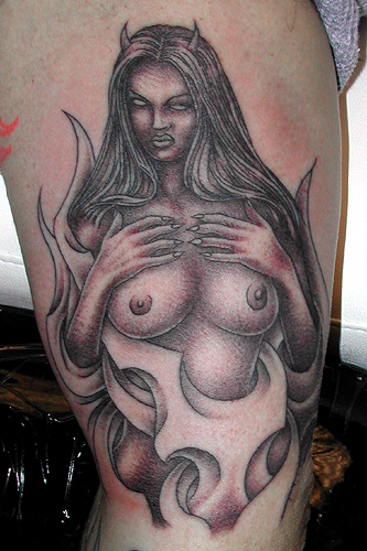 Sean Ohara - Devil Girl. Tattoos