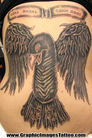 tattoos of ravens. Raven's tribal sleeve and hand tattoos.