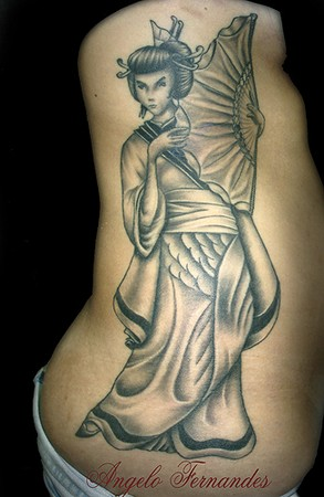 Angelo Fernandes - Geisha Girl Large Image · Tattoos