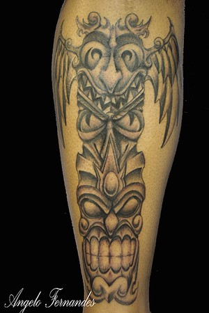 Angelo Fernandes - Totem pole. Large Image · Tattoos