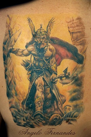 Angelo Fernandes - Viking Large Image · Tattoos