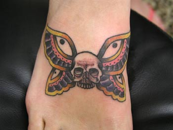 sailor jerry skull butterfly  Looking for unique Butterfly tattoos...