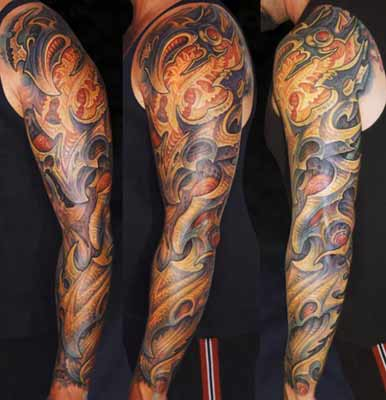 Sleeve Biomech Tattoo