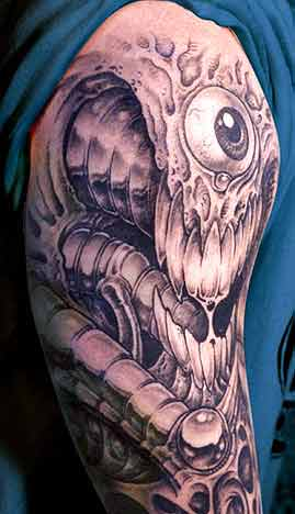 eye ball tattoo. Bio Mech Eyeball