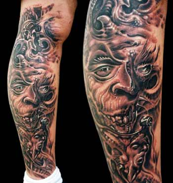 Tattoos · Guy Aitchison. Bio-mech Faces. Now viewing image 0 of 100 previous