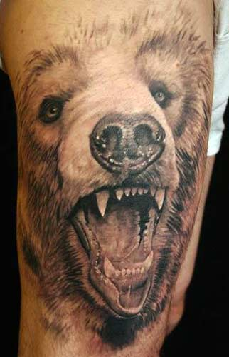 Design 3D Bear Tattoo Picture