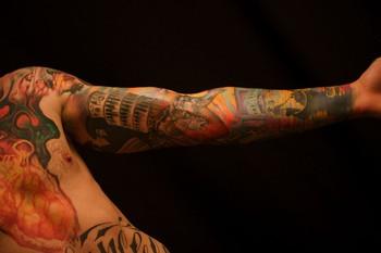 jeff gogue italy full sleeve tattoo