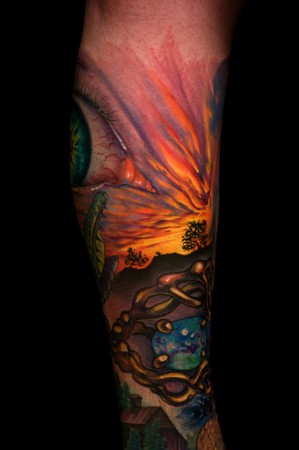 Looking for unique Tattoos? Detail of Totem Leg Piece