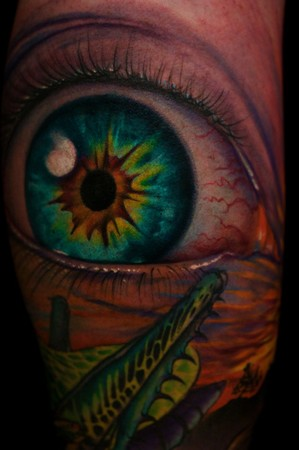 Tattoos Of Eyeballs. Jeff Gogue - Detail of Eyeball